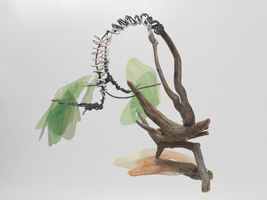 "Marnie Sinclair, time project, ""lung tree"", sculpture"